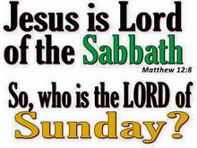Jesus is Lord of the Sabbath day