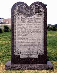 The Ten Commandments monument