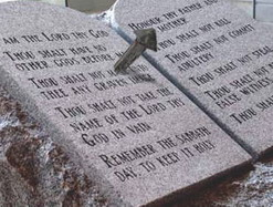 The Ten Commandments nailed to the cross