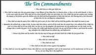 Printable Ten Commandments Post Card Plain