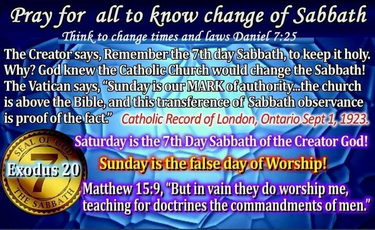 Why was the Sabbath changed